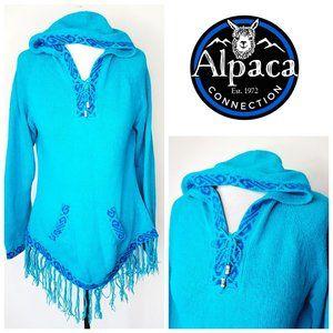 ALPACA CONNECTION 100% Alpaca Wool Boho Sweater